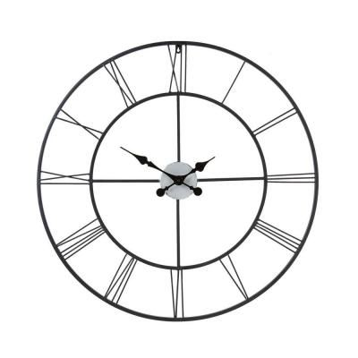 Home Decorators Collection Centurian 30 in. Dia. Metal Wall Clock