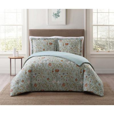 Bedford Blue Floral Comforter Set