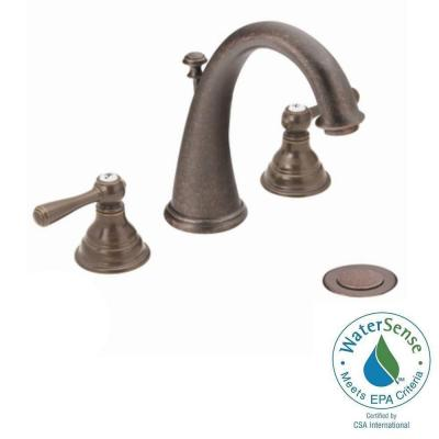 MOEN Kingsley 8 in. Widespread 2-Handle High-Arc Bathroom Faucet Trim Kit in Oil Rubbed Bronze (Valve Sold Separately)