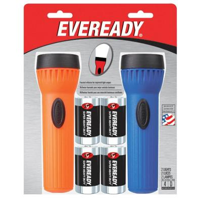 Eveready Economy Light Twin Pack with Batteries