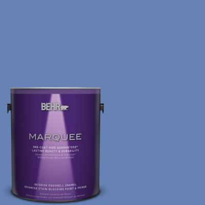 1 gal. #PPU15-6 Neon Blue One-Coat Hide Eggshell Enamel Interior Paint