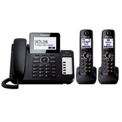 Panasonic DECT 6.0+ Corded/Cordless Phone with All-Digital Answering System, Talking CID, Speakerphone, and 2 Handsets