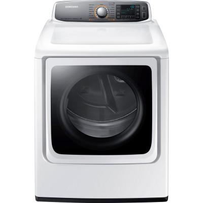 Samsung 30 in. W 9.5 cu. ft. Gas Dryer with Steam in White