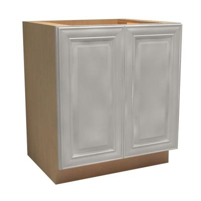 27x34.5x24 in. Brookfield Assembled Base Cabinet with 2 Full Height Doors