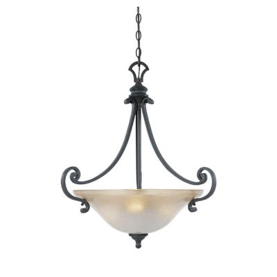 Monte Carlo 3-Light Natural Iron Hanging Pendant