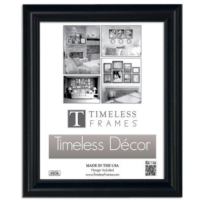 Timeless Frames Boca 1-Opening 10 in. x 13 in. Black Picture Frame