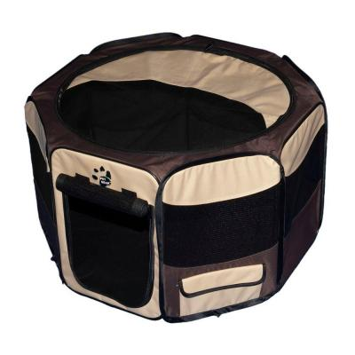 Pet Gear 36 in. L x 36 in. W x 21 in. H Octagon Pet Pen with Removable Top TL4136SA