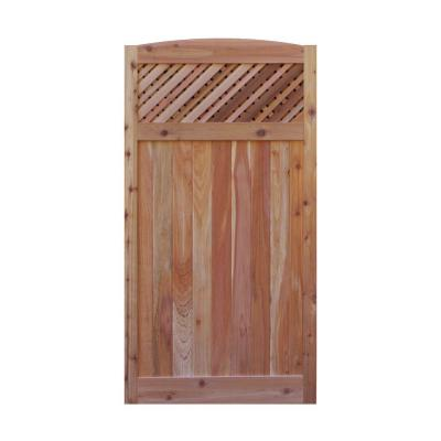 3 ft. W x 6 ft. H Western Red Cedar Arch Top Supreme Lattice Fence Gate Product Photo