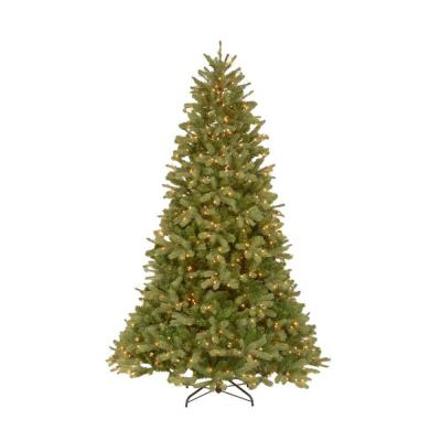 null 10 ft. FEEL-REAL Downswept Douglas Fir Artificial Christmas Tree with 1000 Clear Lights