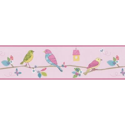 8 in. W x 10 in. H Social Birdie Pink Quilted