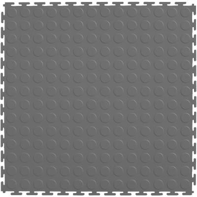 IT-tile Coin Lt Gray 20.5 in. x 20.5 in. Residential & Commercial Interlocking Multi-Purpose Floor, 8 coin ITtiles