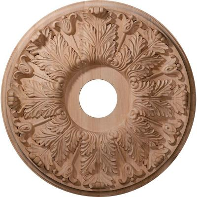 20 in. Unfinished Maple Carved Florentine Ceiling Medallion