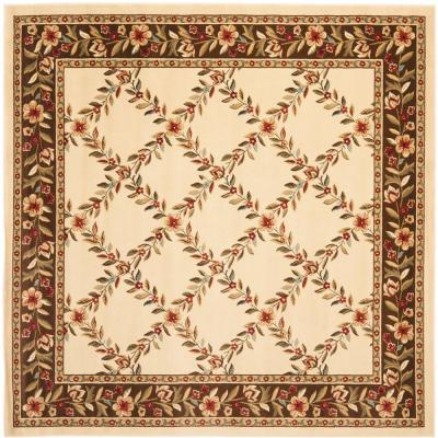Safavieh Lyndhurst Ivory/Brown 6 ft. 7 in. x 6 ft. 7 in. Square Area Rug