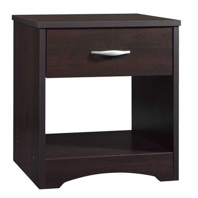 Beginnings Collection 1-Drawer Nightstand in Cinnamon Cherry Product Photo