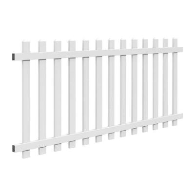 Veranda 4 ft. H x 8 ft. W White Vinyl Glendale Picket Fence Panel