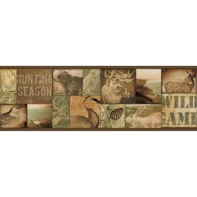 6 in. Trumball Brown Wild Game Border