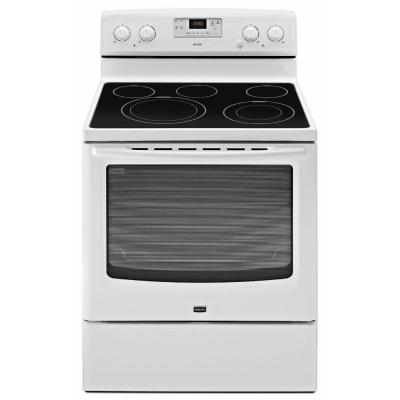 Maytag AquaLift 6.2 cu. ft. Electric Range with Self-Cleaning Oven in White-DISCONTINUED