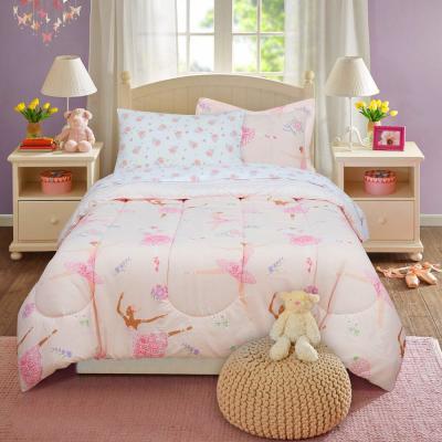 Dancing Ballerina Pink Bed in a Bag with Reversible Comforter