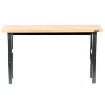 Gladiator Premier Series 42 in. H x 72 in. W x 25 in. D Bamboo Top Adjustable Height Workbench in Hammered Granite