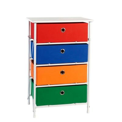 Sort and Store Kids 4-Bin Organizer in Red, Blue, Orange and