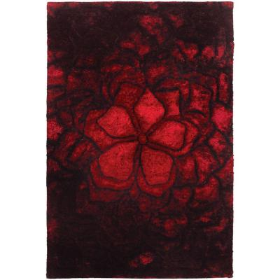 Chandra Flemish Red/Black 5 ft. x 7 ft. 6 in. Indoor Area Rug