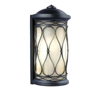 Home Decorators Collection Brimfield 1 Light Aged Iron Outdoor Wall Lantern Y