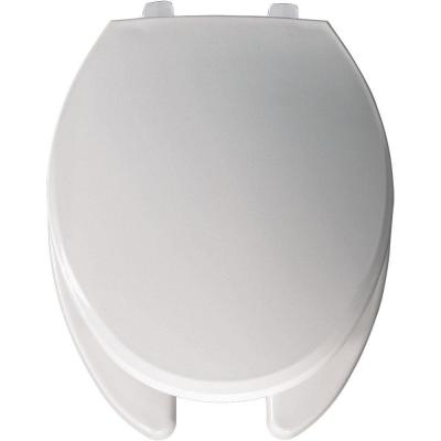 BEMIS Elongated Open Front Toilet Seat in White