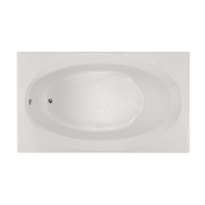 Studio 6 ft. Reversible Drain Air Bath Tub in White Product Photo