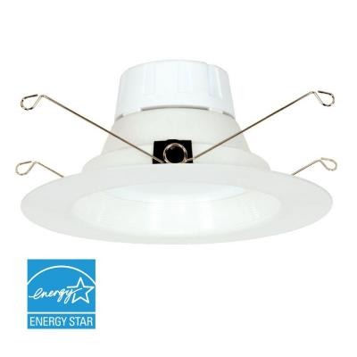 5 in. and 6 in. Matte White Dimmable LED Recessed Downlight