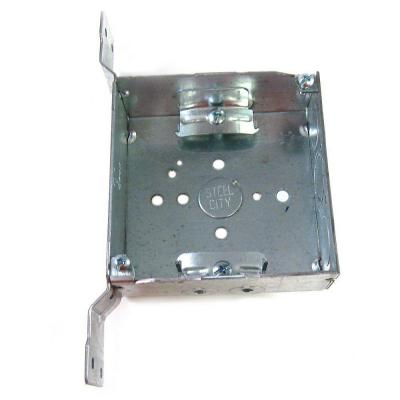 4 in. Steel Square Box with CV Bracket (Case of 25) Product Photo