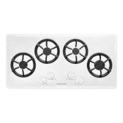 Frigidaire 36 in. Recessed Gas Cooktop in White with 4 Burners