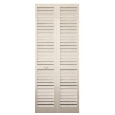 Kimberly Bay 32 In X 80 In White Louver Solid Core Wood