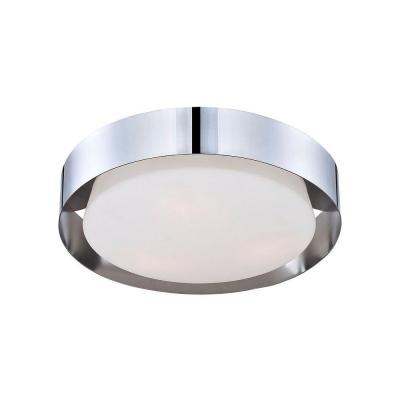 Saturn Collection 3-Light Chrome Flushmount Product Photo
