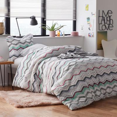 The Company Store Lacey 2 Piece Multicolored Striped Cotton Percale Twin Duvet Cover Set 50390n T Multi The Home Depot