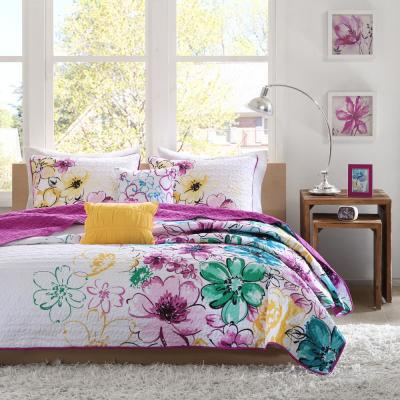 Ashley Floral Coverlet Set