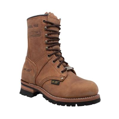 Women's Crazy Horse 9'' Logger Boot - Steel Toe
