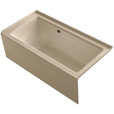 Archer 5 ft. Walk-In Whirlpool and Air Bath Tub in Mexican Sand Product Photo