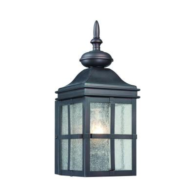 Hampton Bay 1-Light Hawthorne Bronze Outdoor Wall Mount Lantern