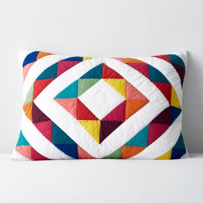 Chevron Patch Geometric Textured Cotton Sham