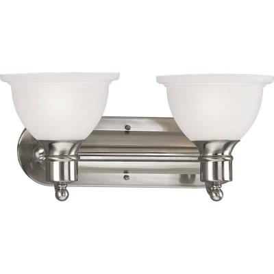 Progress Lighting Madison Collection 2-Light Brushed Nickel Bath Light P3162-09