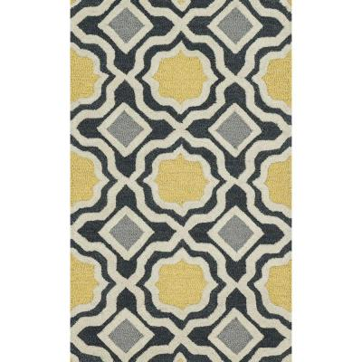Weston Lifestyle Collection Charcoal/Gold 2 ft. 3 in. x 3 ft.