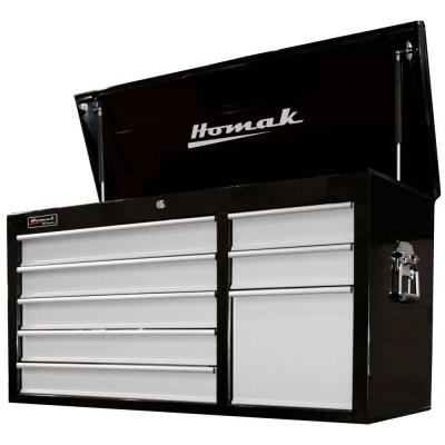 Homak SE Series 41 in. 8-Drawer Tool Chest, Black and Gray