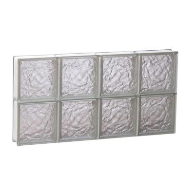 Ice Pattern Non-Vented Glass Block Window