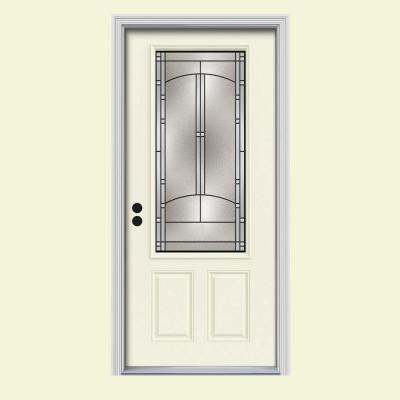Jeld wen 36 in x 80 in idlewild 3 4 lite french vanilla for Prehung french doors