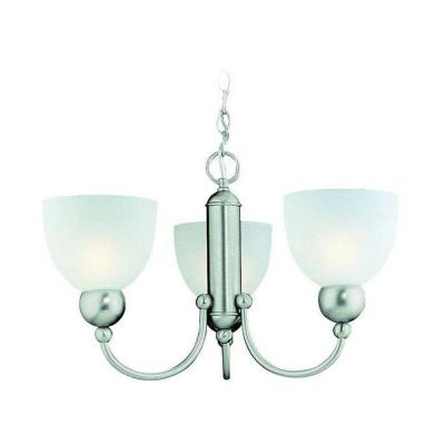 Metropolis Collection 3-Light Brushed Nickel Chandelier