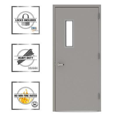 Vision Lite 520 Steel Prehung Commercial Door with Welded Frame
