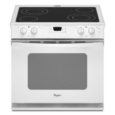 Whirlpool 4.5 cu. ft. Drop-In Electric Range with Self-Cleaning Oven in White