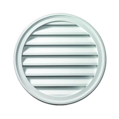 Fypon 24 in. x 24 in. x 1-5/8 in. Polyurethane Decorative Round Louver