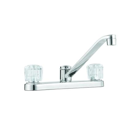 Glacier Bay Aragon 2-Handle Standard Kitchen Faucet in Chrome