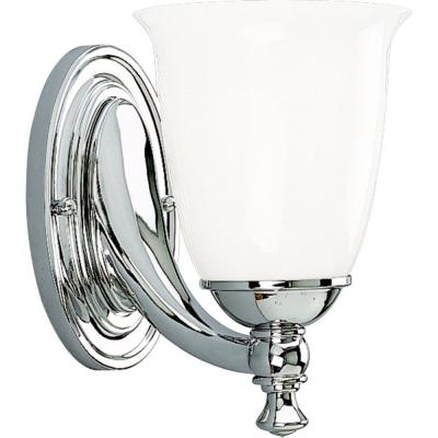 Progress Lighting Victorian Collection Chrome 1-light Vanity Fixture P3027-15